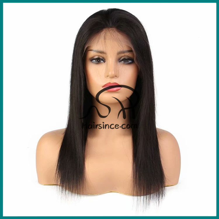 Popular unprocessed virgin hair wig natural Brazilian hair front lace wigs